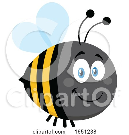 Cartoon Chubby Bumble Bee by Hit Toon