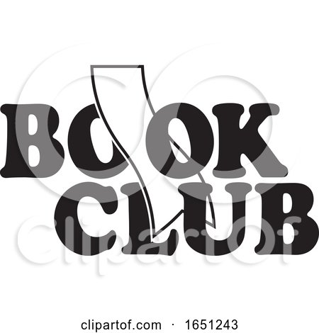 Black and White Book Club Design with a Bookmark by Johnny Sajem