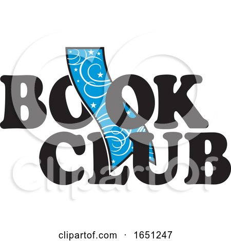 Book Club Design with a Blue Bookmark by Johnny Sajem