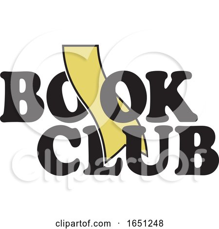 Book Club Design with a Gold Bookmark by Johnny Sajem