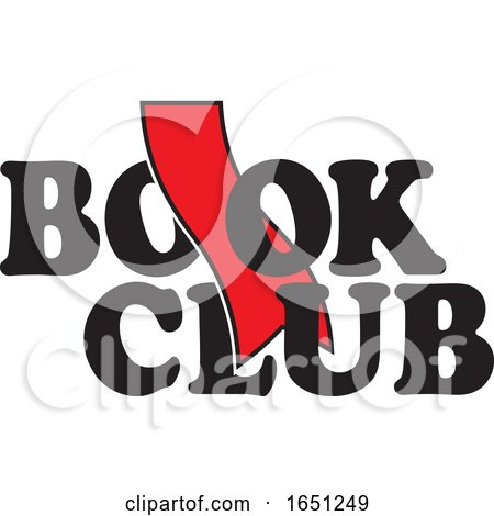 Book Club Design with a Red Bookmark by Johnny Sajem