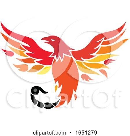 Phoenix with Scorpion Tail Icon by patrimonio