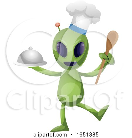 Green Extraterrestrial Alien Chef by Morphart Creations