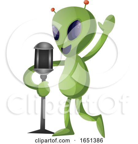 Green Extraterrestrial Alien Singing by Morphart Creations