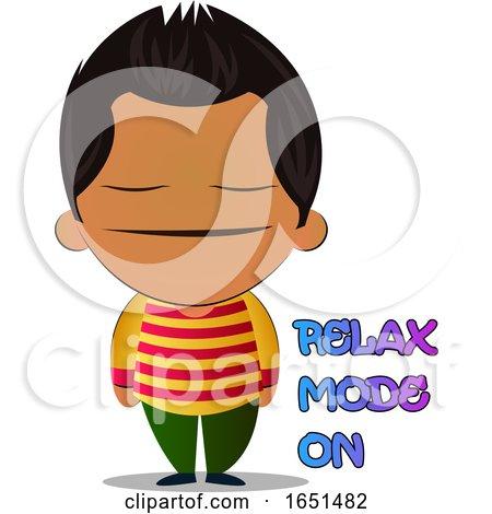 Hispanic Boy Feeling Relaxed by Morphart Creations
