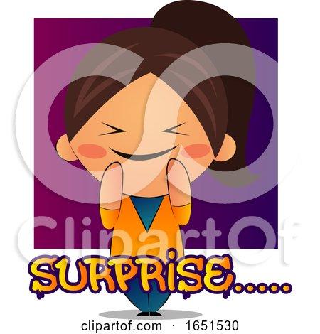 Brunette Girl Feeling Surprised by Morphart Creations