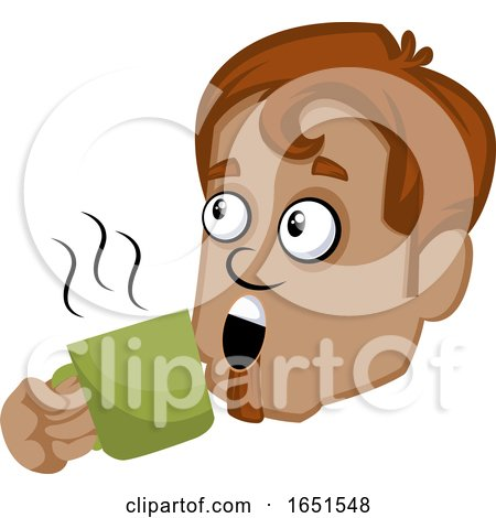 Man Drinking Coffee Posters, Art Prints