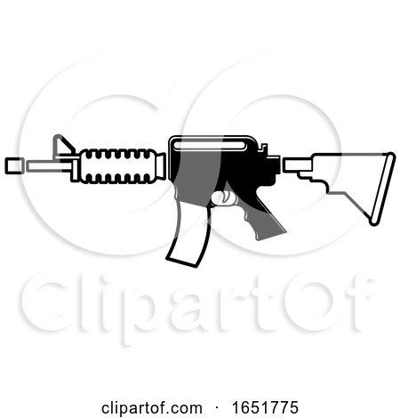 Black and White Gun by Lal Perera