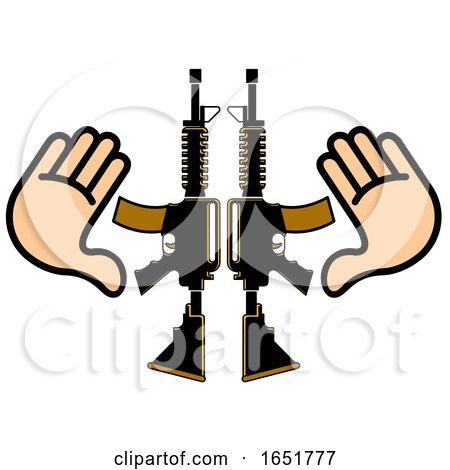 Hands and Guns by Lal Perera