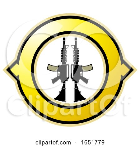 Icon with Guns by Lal Perera