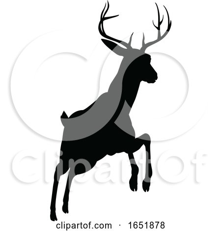 Deer Animal Silhouette by AtStockIllustration