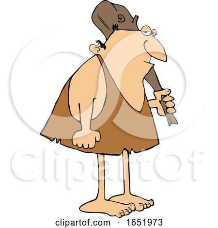 Cartoon Neanderthal with a Club by djart