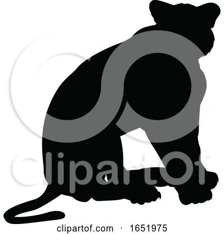 Silhouette Lion by AtStockIllustration