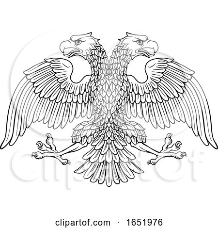 Double Headed Imperial Eagle with Two Heads by AtStockIllustration