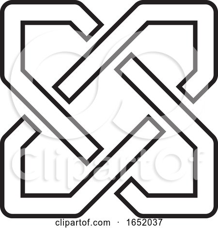 Abstract Black and White Icon by Lal Perera