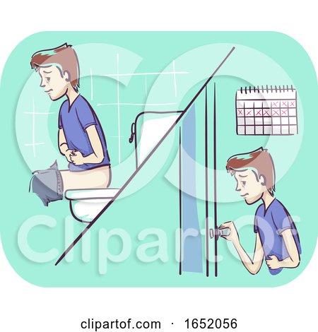 Man Diarrhea More Than Week Illustration by BNP Design Studio
