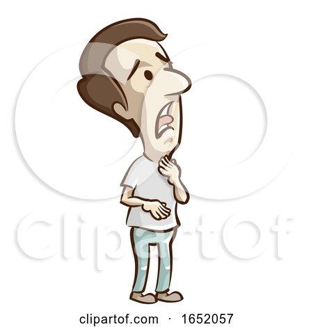 Man Dryness Throat Illustration by BNP Design Studio