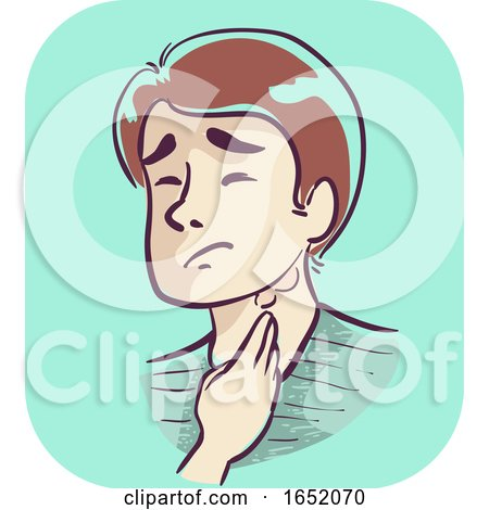 Boy Symptom Swollen Lymph Nodes Illustration by BNP Design Studio