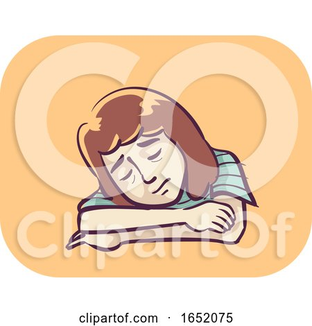 Girl Symptom Fatigue Illustration by BNP Design Studio