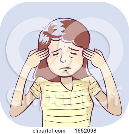 Woman Symptom Headache Illustration by BNP Design Studio