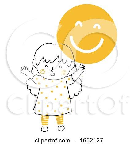 Kid Girl Remind Smile Illustration by BNP Design Studio