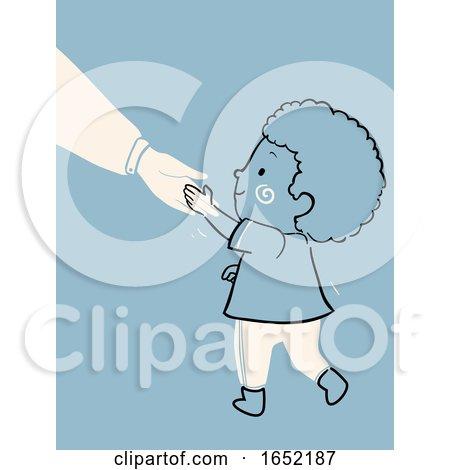 Kid Boy Child Raising Polite Illustration Posters, Art Prints