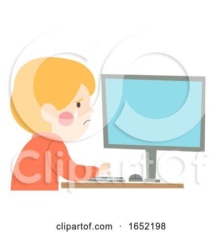 Kid Boy Children Help Line Website Illustration by BNP Design Studio