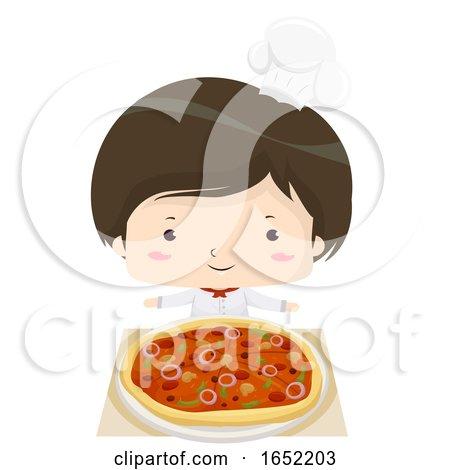 Kid Boy Pizza Chef Illustration by BNP Design Studio