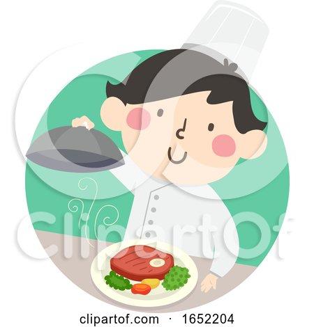 Kid Boy Top Chef Illustration by BNP Design Studio