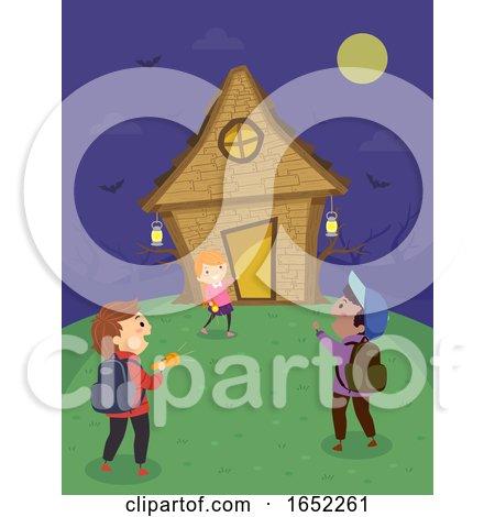 Stickman Kids Witch House Illustration by BNP Design Studio