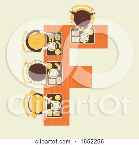 Kids Alphabet School Food Illustration by BNP Design Studio