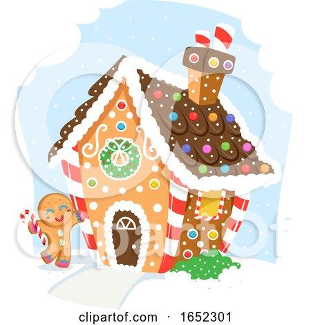 Ginger Bread Man House Illustration by BNP Design Studio