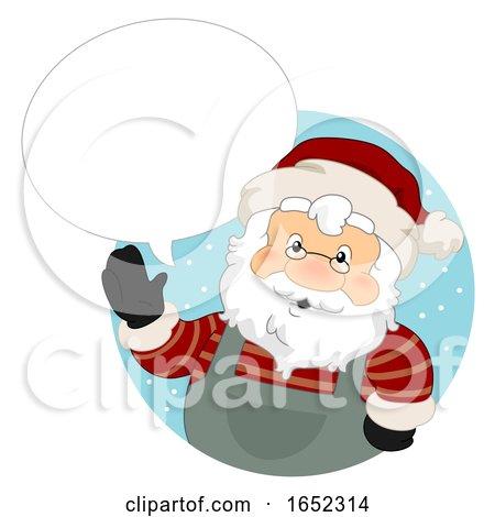 Santa Claus Christmas Market Speech Bubble by BNP Design Studio