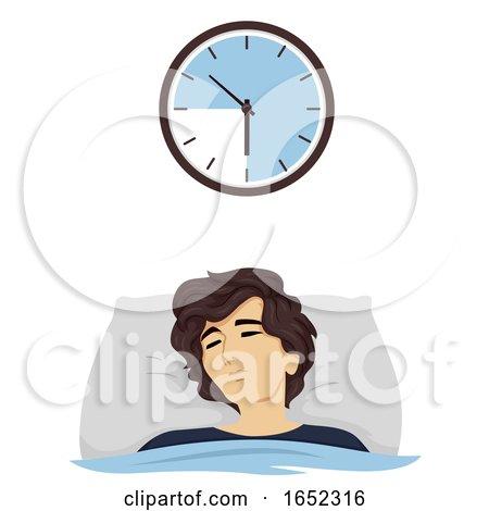 Teen Boy Hours Sleep Time 9 Illustration by BNP Design Studio