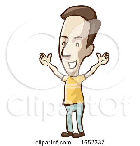 Man Symptom Happy Illustration by BNP Design Studio