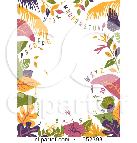 Tropical Alphabet Numbers Illustration by BNP Design Studio