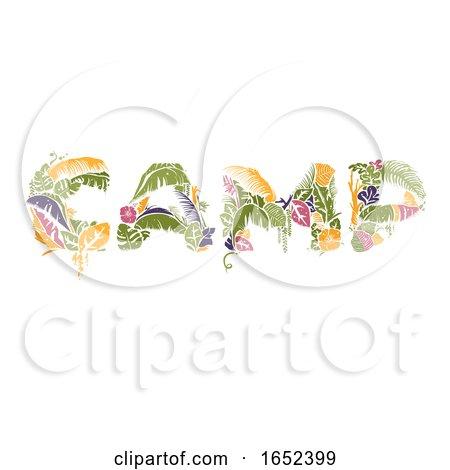 Tropical Camp Lettering Illustration by BNP Design Studio