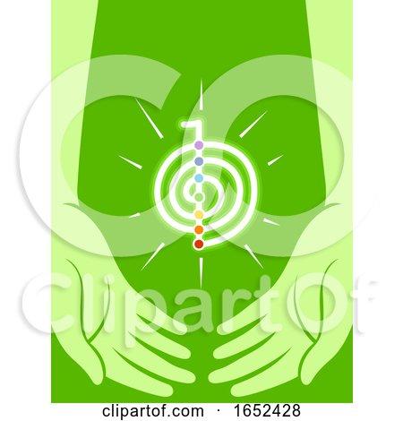 Hands Reiki Energy Symbol Illustration by BNP Design Studio