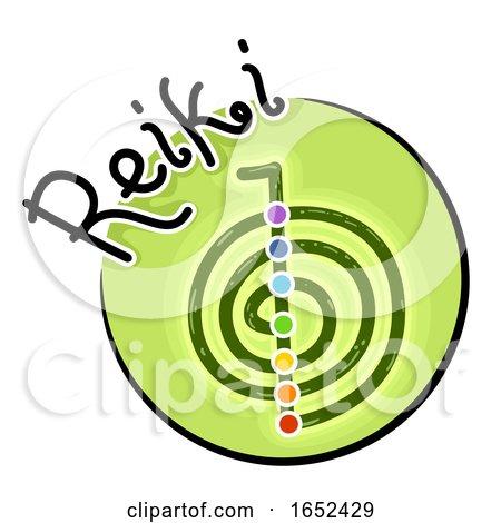 Reiki Symbol Icon Illustration by BNP Design Studio
