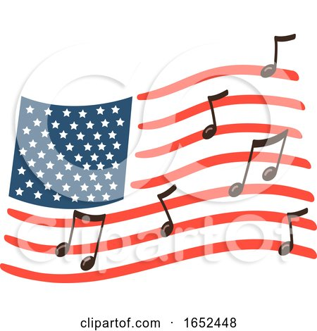 American Flag Day Song Illustration by BNP Design Studio