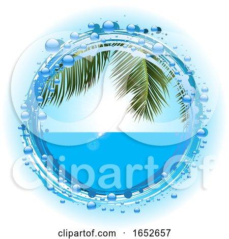 Tropical Summer Holiday on Water Bubble Border by elaineitalia