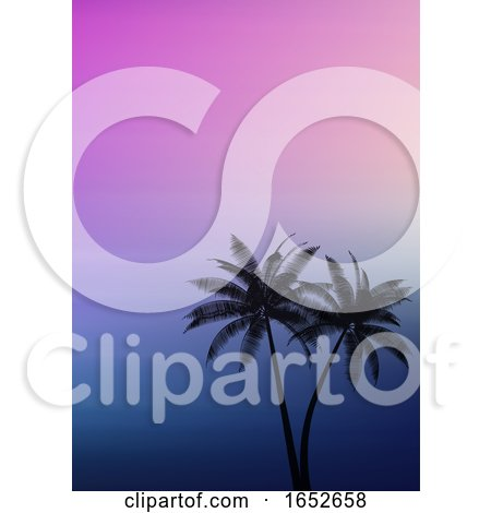 Palm Trees on a Gradient Background by KJ Pargeter