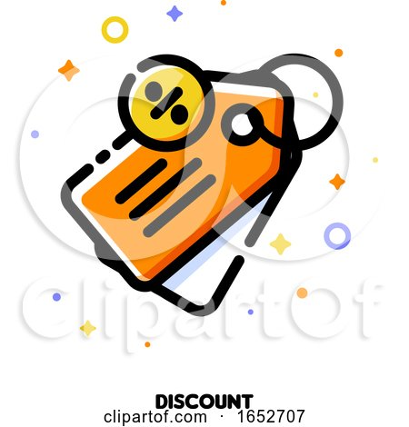 Icon of Price Tag with Percent Sign by elena