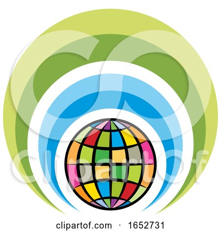 Colorful Globe Icon by Lal Perera