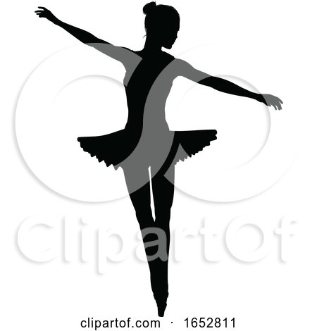 Ballet Dancer Silhouette by AtStockIllustration