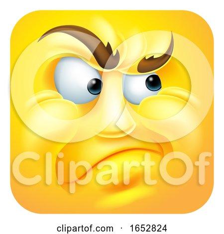 Annoyed Emoji Emoticon Icon Cartoon Character by AtStockIllustration