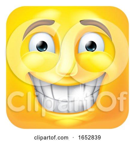 Smiling Emoji Emoticon Icon 3D Cartoon Character by AtStockIllustration