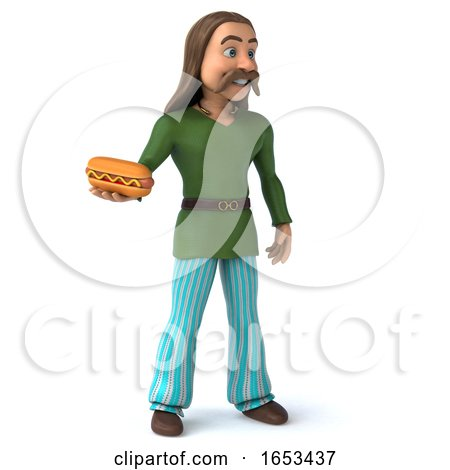 3d Gaul Man, on a White Background by Julos