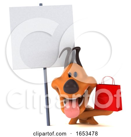 3d Puppy Dog, on a White Background by Julos
