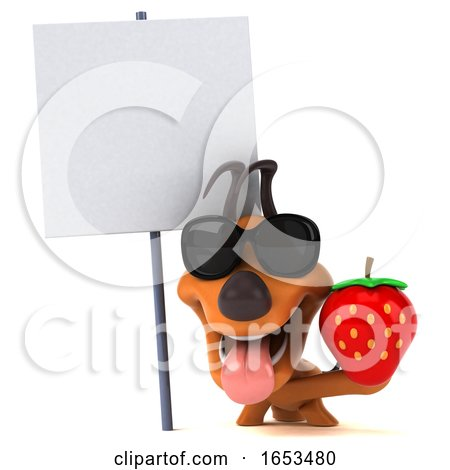 3d Puppy Dog, on a White Background Posters, Art Prints